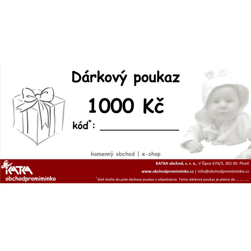 e429dfc0608 Dárkový poukaz v hodnotě 1000 Kč