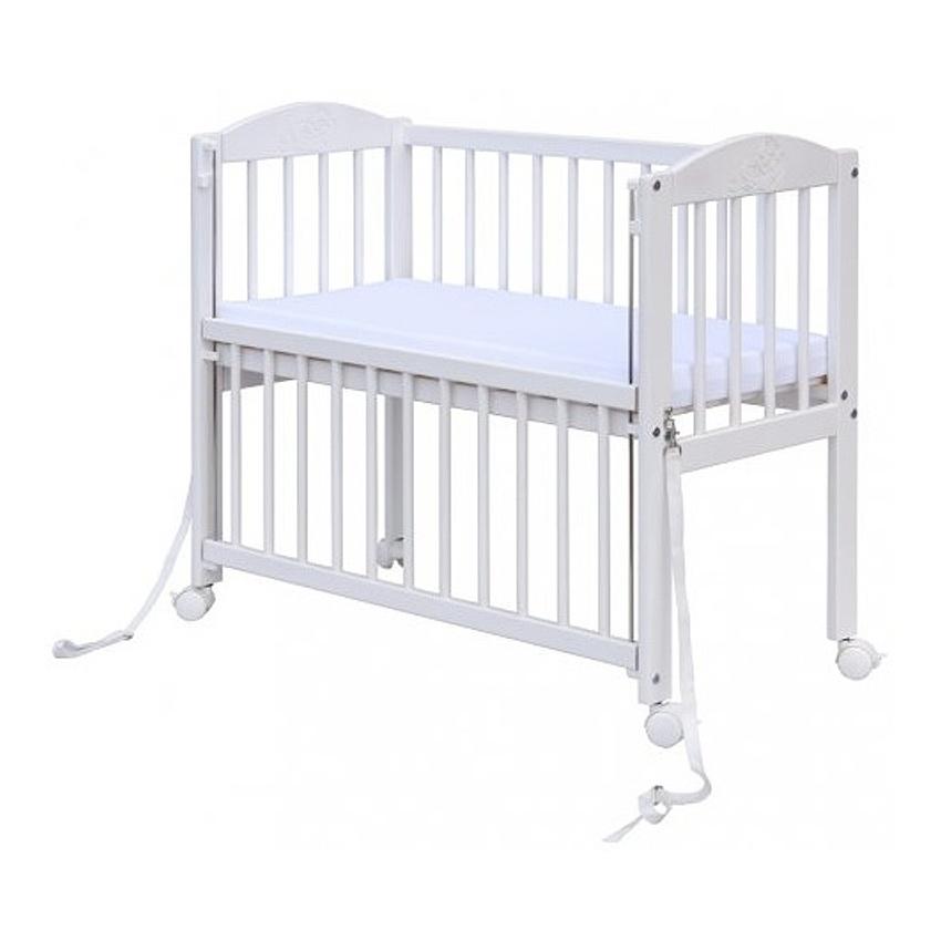 Dětská postýlka | Baby | 90 x 41 cm | borovice stahovací bok | bílá